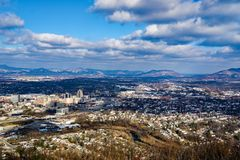 A Winter's View of the Roanoke Valley, Virginia, USA Stock Images
