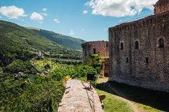 View of Rocca Maggiore in historic town Assisi, Italy. View of Rocca Maggiore in historic town Assisi, Umbria, Italy Stock Images