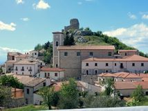 View of Rocca San Felice Royalty Free Stock Photo