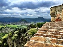 View from Rocca, San Leo, Italy Stock Images