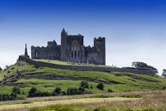 View of the Rock of Cashel in Ireland royalty free stock photo