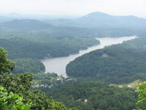 View From The Rock. Chimney Rock North Carolina Climbing Stock Photography