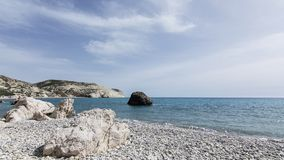 Aphrodite s Rock, Cyprus. Mediterranean, geology.  Holiday Destination Stock Images