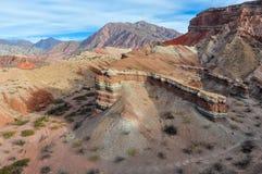 View of rock formations in the Quebrada de las Conchas, Argentin Stock Photos