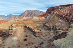 View of rock formations in the Quebrada de las Conchas, Argentin Royalty Free Stock Images