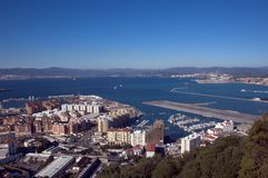 View from the Rock, Gibraltar Stock Image