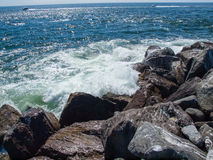 View from the Rock Jetty at Ocean Shores Washington USA Stock Images