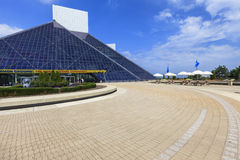 View of the Rock and Roll Museum,  Ohio, USA Stock Photo