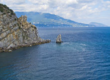 View of the rock Sail and the Bay.Crimea Royalty Free Stock Image