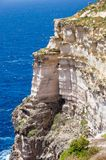 A view of the rock on the sea at Gozo island in Malta. A view of the rock on the sea at Gozo island in Malta Royalty Free Stock Image