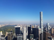 View from the Rockefeller Top of the Rock stock photo