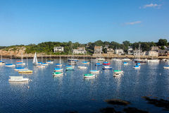 A view of Rockport Harbour Stock Image