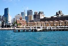 View of The Rocks District in Circular Quay. Stock Photo
