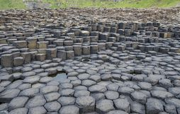Irelands rocky Giant Causeway. A view of rocks from the Giant Causeway in Northern Ireland stock photos