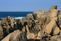 View on rocks and ocean Royalty Free Stock Photo
