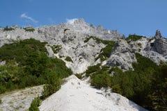View on rocky alpine peak Stock Photography