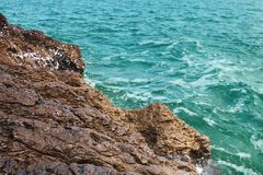 View of the rocky beach Royalty Free Stock Photos