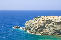 View of rocky cliff and transparent sea water Royalty Free Stock Images