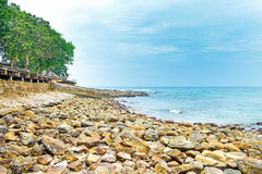 View of a rocky coast. In koh chang thailand Stock Photography