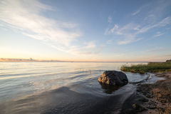 View of a rocky coast in the morning Royalty Free Stock Photography