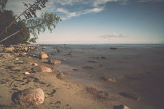 View of a rocky coast in the morning Stock Photography