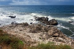 View of a rocky coast Stock Photo