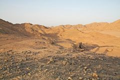 View of the rocky desert of Sharm el Sheik Royalty Free Stock Photos
