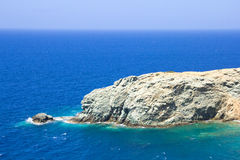 View of rocky island in Mediterranean sea Royalty Free Stock Images
