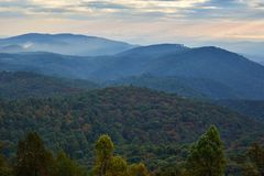 View from Rocky Knob, Virginia royalty free stock photos