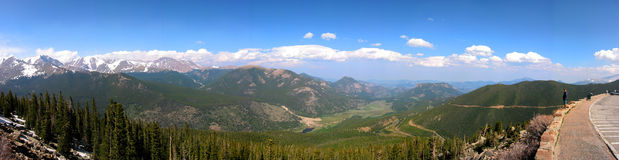 The view at rocky mountain stock image
