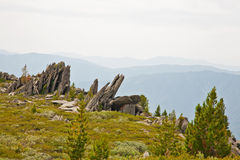 View of rocky mountains landscape. Royalty Free Stock Photography
