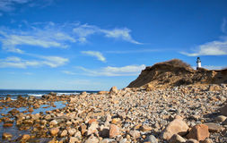 View from a Rocky Ocean Shore Stock Photos