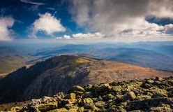 View of the rocky, rugged White Mountains from the summit of Mou Royalty Free Stock Photos