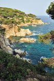 View of the rocky shore of the Mediterranean Sea Royalty Free Stock Image