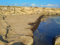 A view of a rocky shore of Sicily Stock Photography