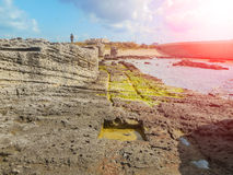 A view of a rocky shore of Sicily island Stock Photo