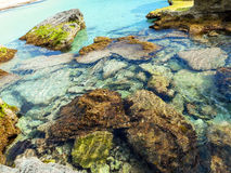 A view of a rocky shore of a Sicily island, Italy Stock Photography