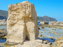 A view of a rocky shore of a Sicily island Royalty Free Stock Image