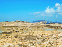 A view of a rocky shore of a Sicily island Stock Photography