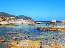 A view of a rocky shore of a Sicily island Royalty Free Stock Photography
