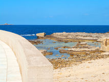 A view of a rocky shore of a Sicily island Stock Image