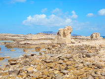 A view of a rocky shore of a Sicily island Royalty Free Stock Photo