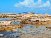 A view of a rocky shore of Sicily island Royalty Free Stock Photography