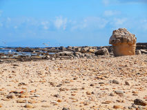 A view of a rocky shore of Sicily island Royalty Free Stock Photo