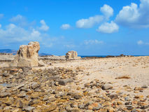 A view of a rocky shore of  Sicily island Royalty Free Stock Images