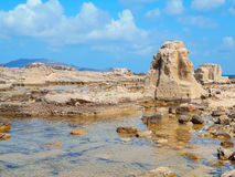 A view of a rocky shore of Sicily island Stock Photography