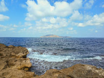 A view of a rocky shore of Sicily island Royalty Free Stock Image