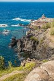 Rocky Maui Shoreline 2. A view  of a rocky shoreline on the Northwest area of Maui, Hawaii Royalty Free Stock Images