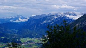 View from the \ Roßfeldstraße \ to Austria Royalty Free Stock Photography