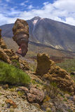 View of the Rogues de Garcia and Teide volcano Stock Photo